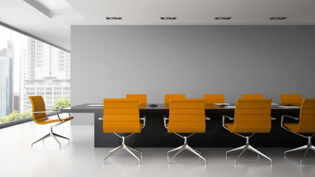 Office and commercial Cleaning - Image of Meeting room cleaned