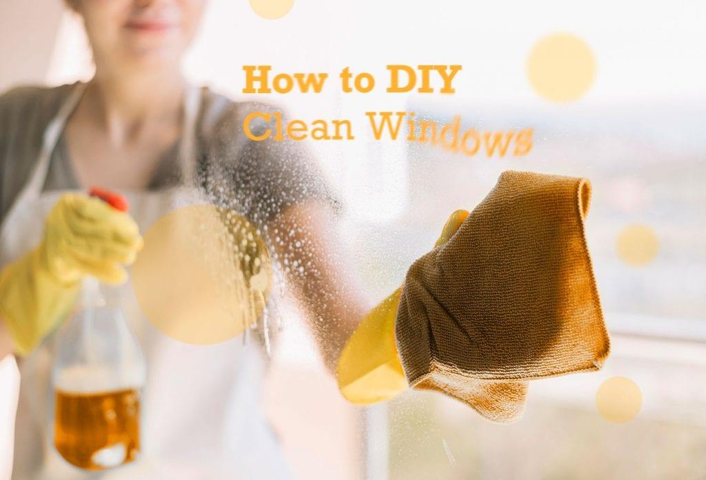 DIY Cleaning Window - Lady clean window