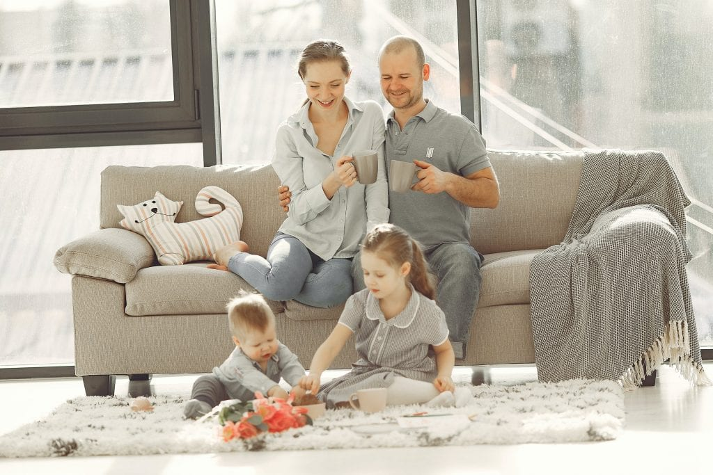 Cleaning During the Coronavirus (COVID-19) - Family living room clean